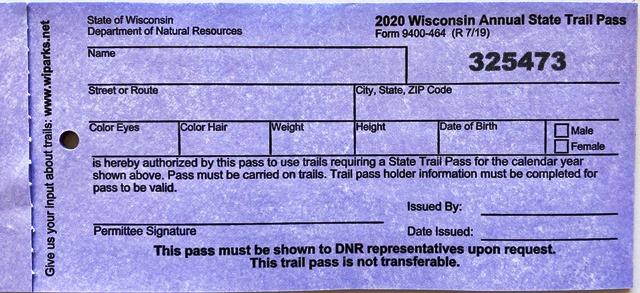WI State Trail Pass